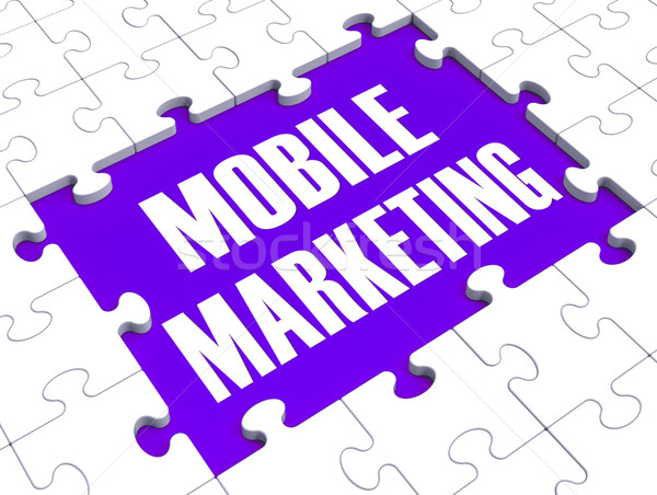 Mobil marketing on-line comerţ telefon Imagine de stoc © stuartmiles