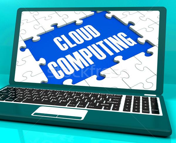 Dizüstü bilgisayar çevrimiçi İş stratejisi ağ hizmetleri Stok fotoğraf © stuartmiles