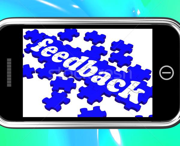 Feedback On Smartphone Shows Customers' Satisfaction Stock photo © stuartmiles