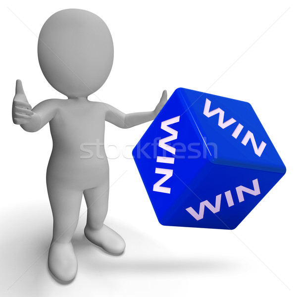 Win Dice Showing Success Winner Succeed Stock photo © stuartmiles
