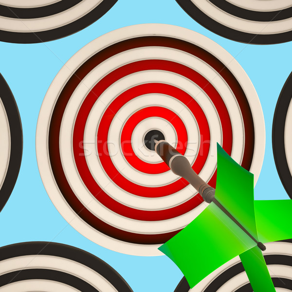 Bulls eye Target Shows Focused Successful Aim Stock photo © stuartmiles
