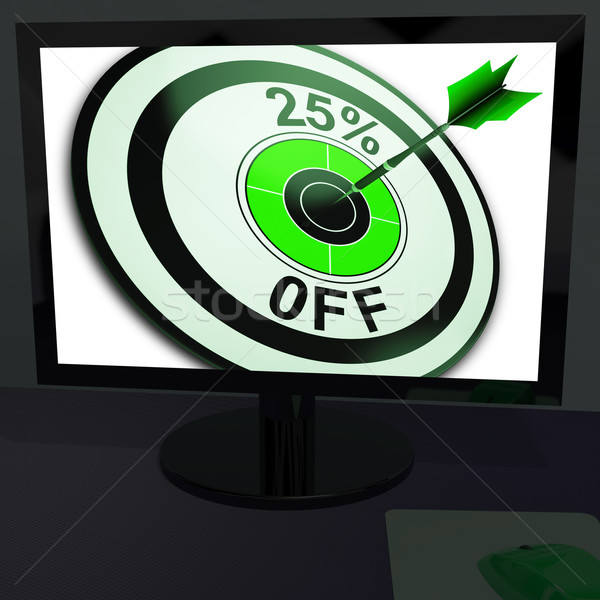 Stock photo: Twenty-Five Percent Off On Monitor Shows Promotions