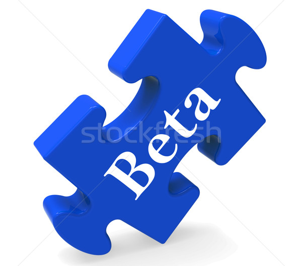 Beta Puzzle Shows Demo Software Or Development Stock photo © stuartmiles