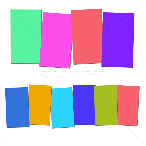 Four And Six Blank Paper Slips Show Copyspace For 4 Or 6 Letter  Stock photo © stuartmiles