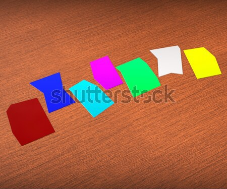 Four Blank Paper Slips Show Copyspace For 4 Letter Word Stock photo © stuartmiles