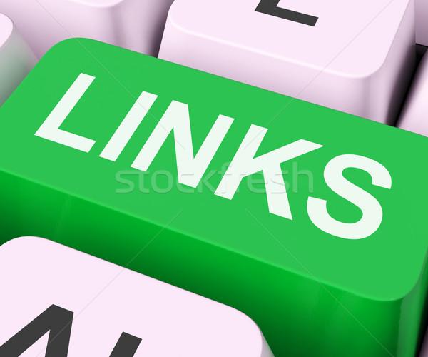 Links Key Shows Backinks Linking And Seo Stock photo © stuartmiles