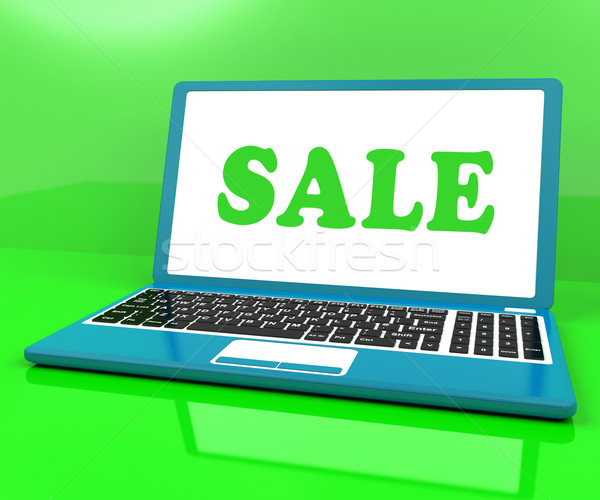 Sale Laptop Shows Clearance Discount Or Offer Online Stock photo © stuartmiles