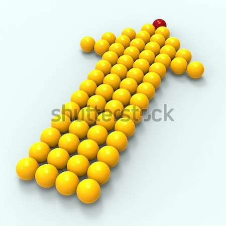 Leading Metallic Balls In Arrow Showing Leadership Stock photo © stuartmiles