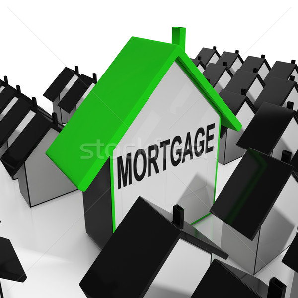 Mortgage House Means Debt And Repayments On Property Stock photo © stuartmiles