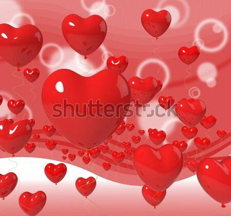 Kalp balonlar tutku sevmek romantizm Stok fotoğraf © stuartmiles
