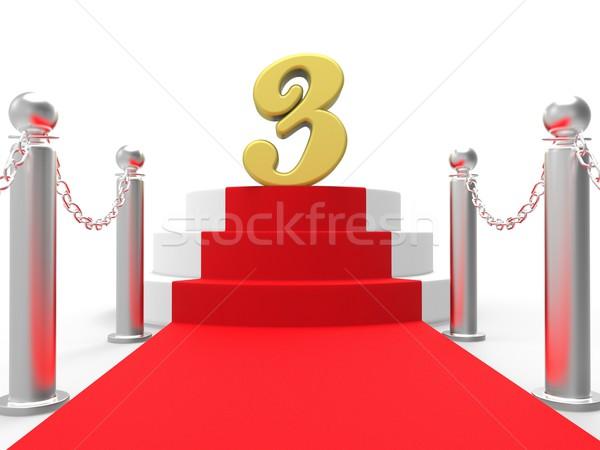 3  レッドカーペット ステージ 周年記念 ストックフォト © stuartmiles