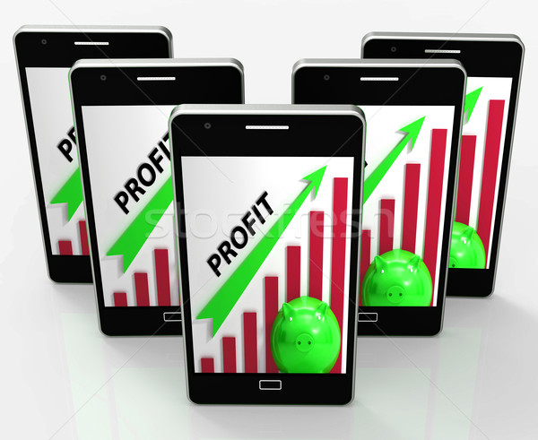 Profit Graph Phone Shows Sales Revenue And Return Stock photo © stuartmiles