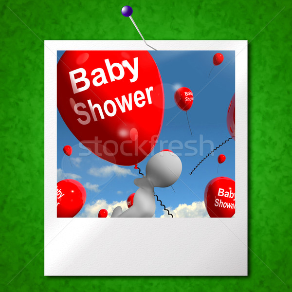 Baby Shower Balloons Photo Shows Cheerful Parties and Festivitie Stock photo © stuartmiles