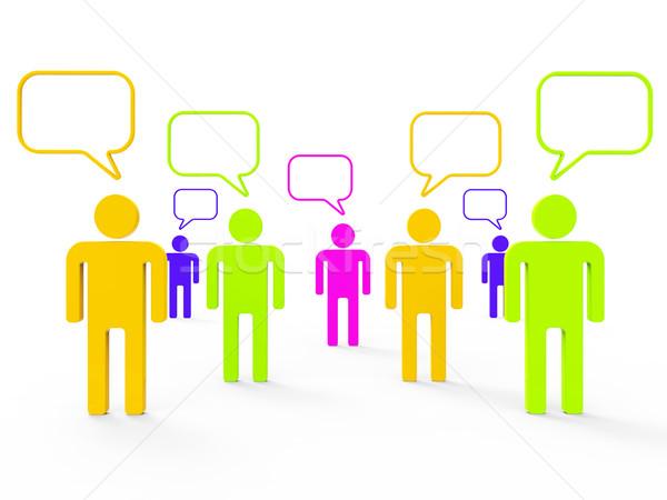 People Communicating Indicates Computer Network And Communicate Stock photo © stuartmiles