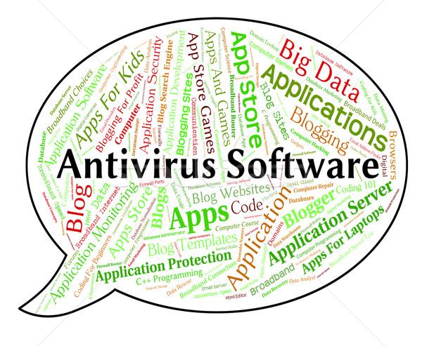 Antivirus logiciels demande sécurité mot Photo stock © stuartmiles