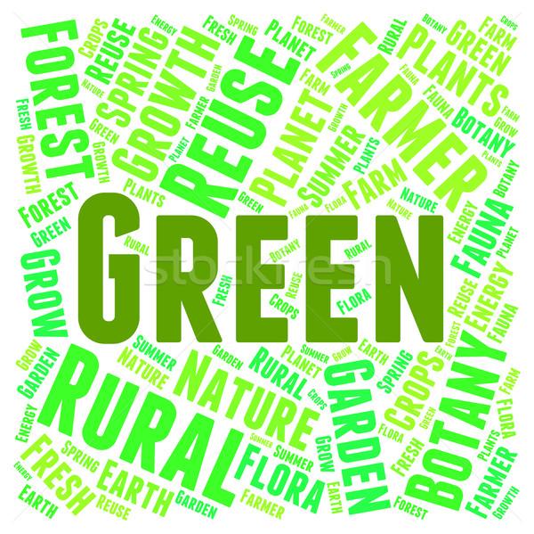 緑 言葉 地球 優しい 保全 環境にやさしい ストックフォト © stuartmiles