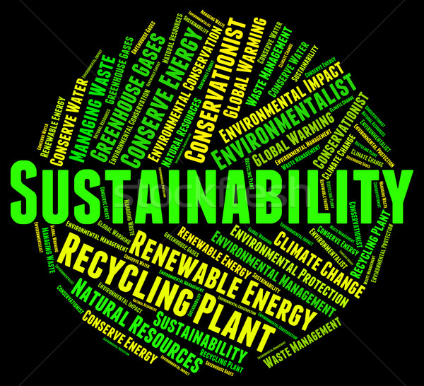 Sustainability Word Indicates Sustainable Recycling And Conserve Stock photo © stuartmiles