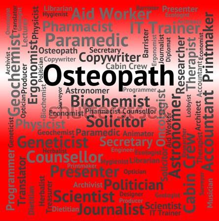 Therapist Job Indicates Word Hiring And Therapies Stock photo © stuartmiles