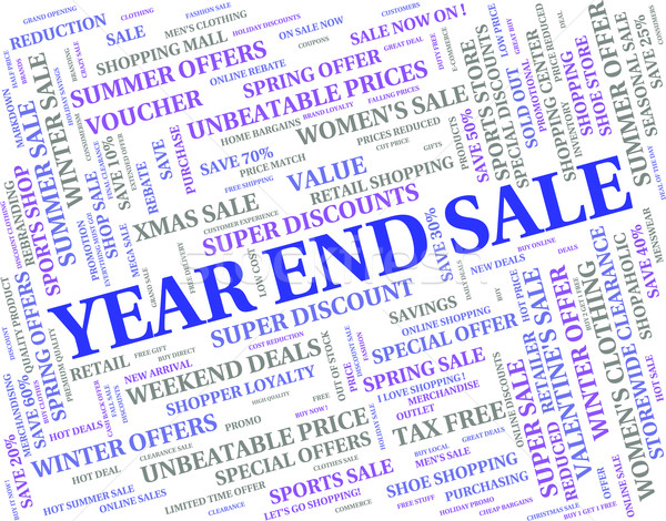 Year End Sale Represents Retail Clearance And Discount Stock photo © stuartmiles