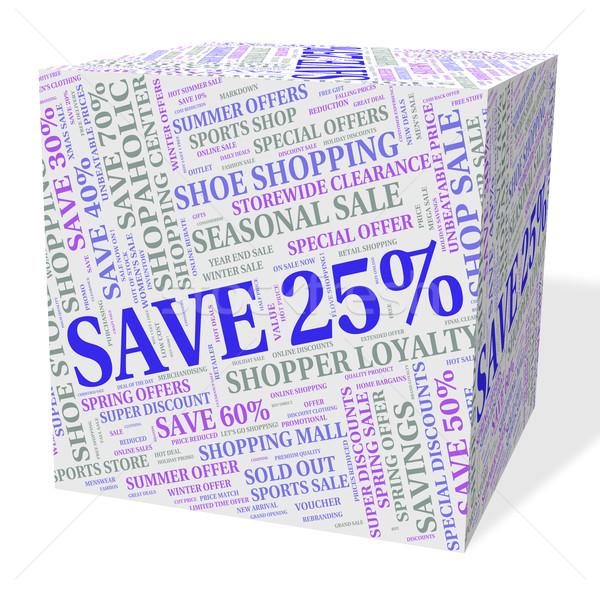 Vinte cinco por cento promoção palavra oferecer Foto stock © stuartmiles