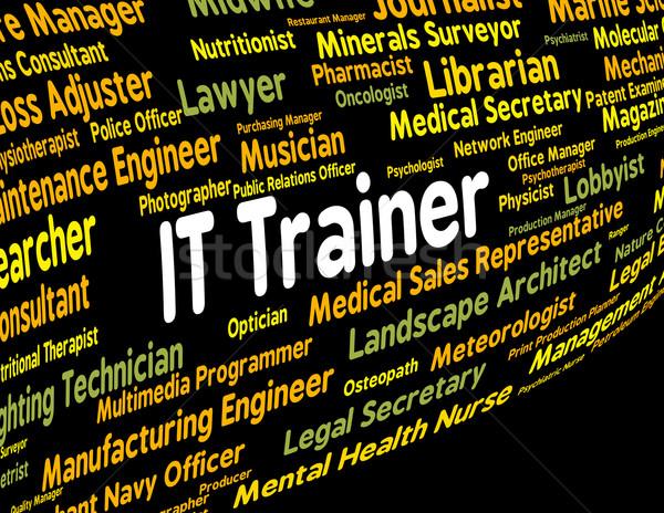 Tecnología de la información entrenador dar lecciones significado texto Foto stock © stuartmiles