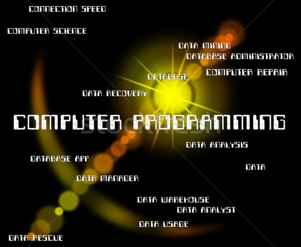Computador programação software projeto comunicação Foto stock © stuartmiles