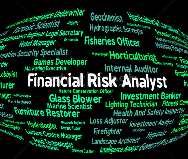 Financial Risk Analyst Shows Risks Unsafe And Analytics Stock photo © stuartmiles