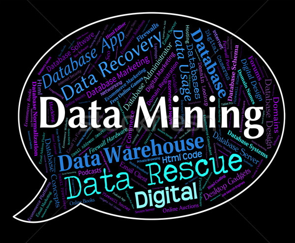 Data Mining Indicates Facts Mined And Fact Stock photo © stuartmiles