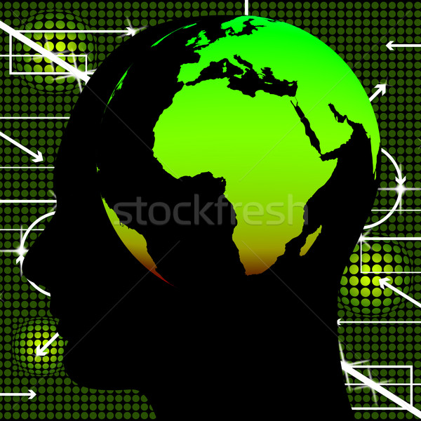Human Knowledge Represents Globalisation Wise And Global Stock photo © stuartmiles