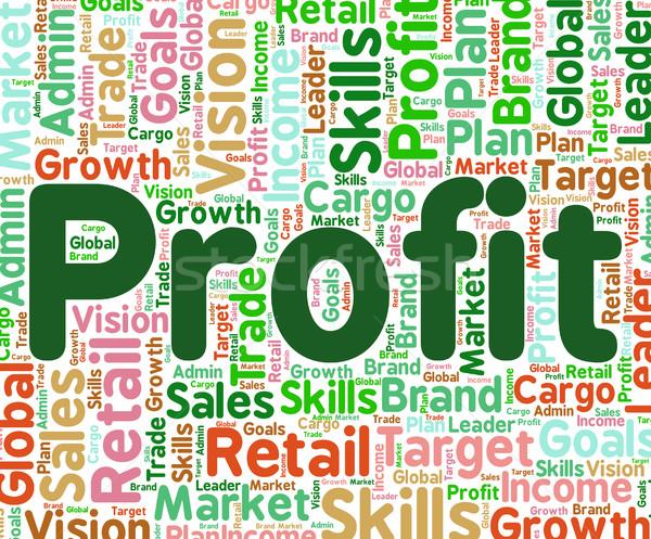Beneficio palabra ganancias texto Foto stock © stuartmiles