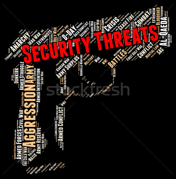 Security Threats Indicates Threatening Remark And Forbidden Stock photo © stuartmiles