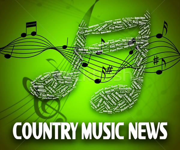 Country Music News Indicates Folk Song And Musical Stock photo © stuartmiles