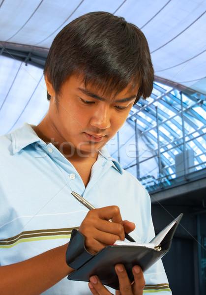 Empresario planificación fuera comercio mostrar hombre Foto stock © stuartmiles