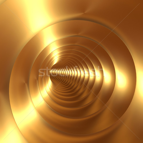 Gold Vortex Abstract Background With Twirling Twisting Spiral Stock photo © stuartmiles