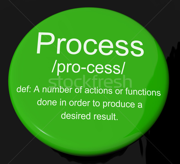 Process Definition Button Showing Result From Actions Or Functio Stock photo © stuartmiles