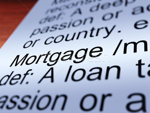 Сток-фото: ипотечный · определение · собственности · заем