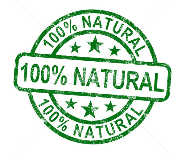 100% Natural Stamp Shows Pure Genuine Product Stock photo © stuartmiles