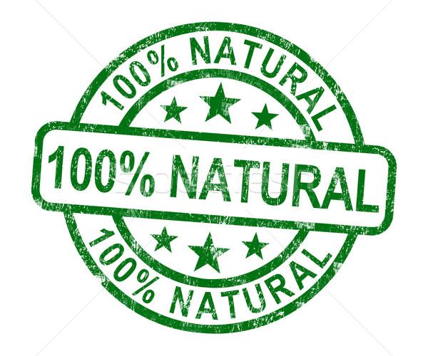 100 自然 スタンプ 純正 製品 ストックフォト © stuartmiles