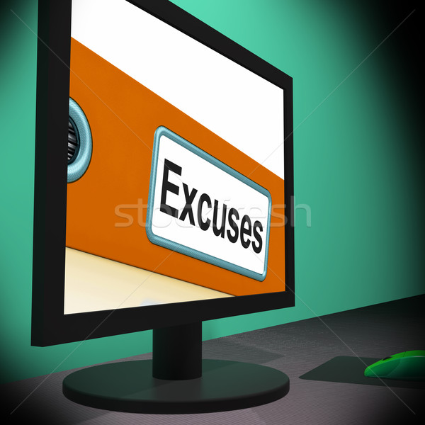 Excuses On Monitor Shows Reasons Stock photo © stuartmiles