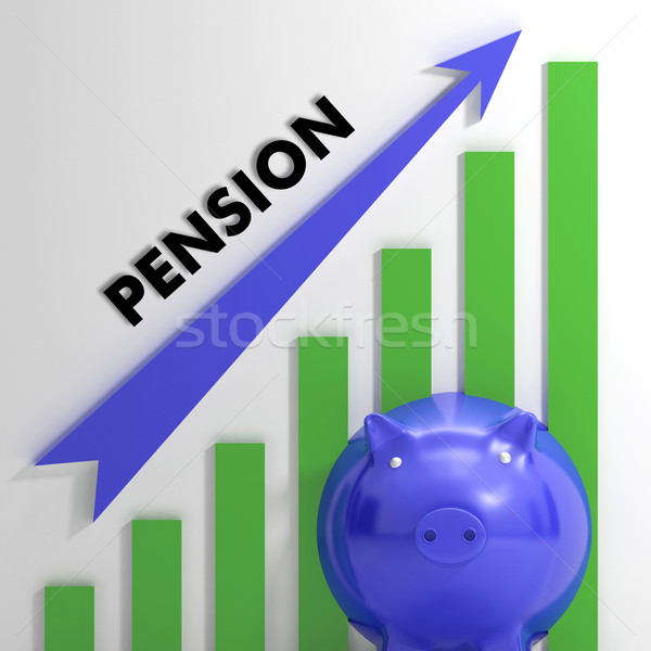 Raising Pension Chart Showing Monetary Growth Stock photo © stuartmiles