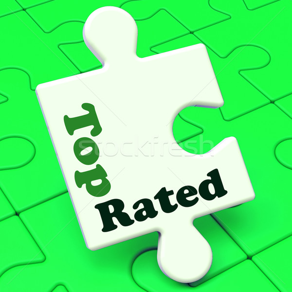 Top Rated Puzzle Shows Best Ranked Special Product Stock photo © stuartmiles