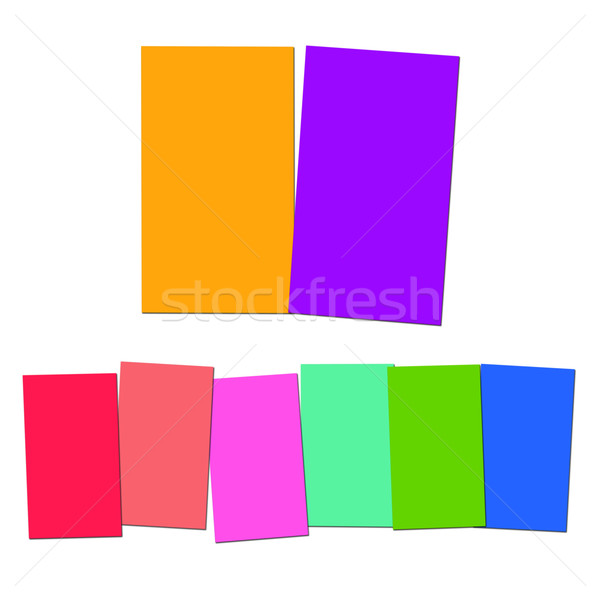 Stock photo: Two And Six Blank Paper Slips Show Copyspace For 2 Or 6 Letter W