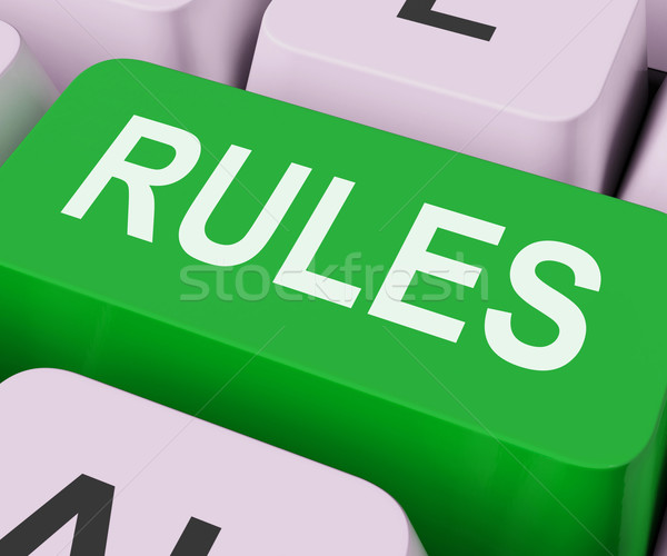 Rules Keys Shows Guidance Policy Or Regulations Stock photo © stuartmiles