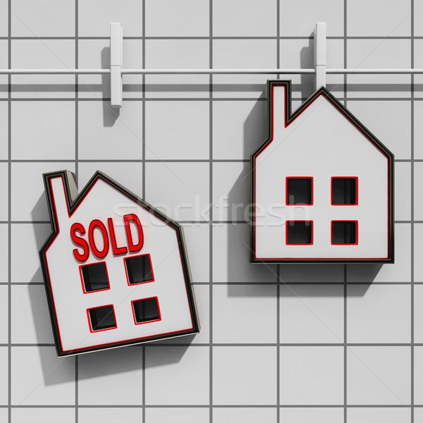 Uitverkocht huis verkoop onroerend koop eigendom Stockfoto © stuartmiles