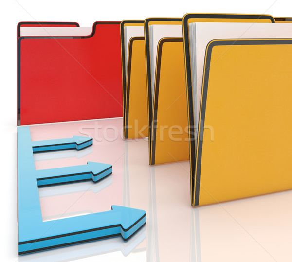 Folders Or Files Shows Administration And Organized Stock photo © stuartmiles