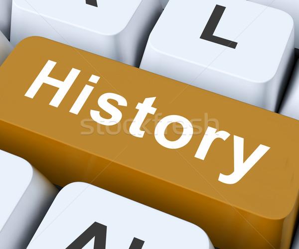 歴史 キー 過去 古い キーボード ストックフォト © stuartmiles