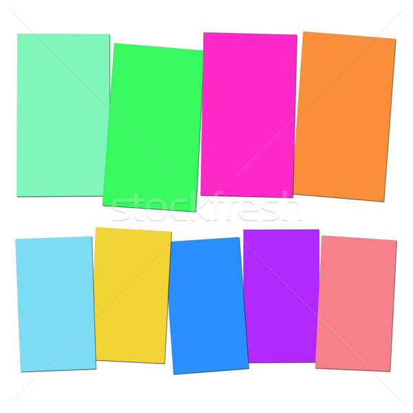 Four And Five Blank Paper Slips Show Copyspace For 4 Or 5 Letter Stock photo © stuartmiles