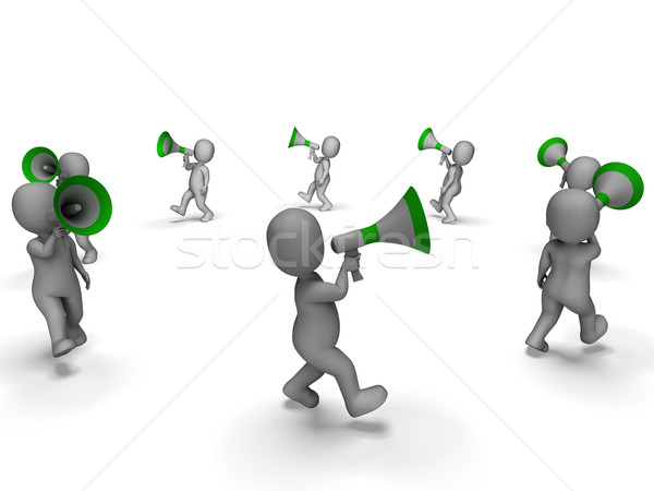 Characters With Loud Hailers Shows Announcing Information Or Sho Stock photo © stuartmiles