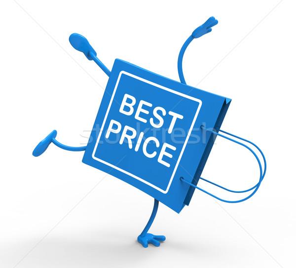 Kézenállás bevásárlószatyor legjobb ár vásár mentés mutat Stock fotó © stuartmiles