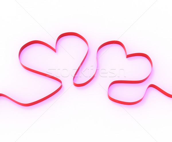 Ribbon Hearts Mean Romantic Anniversary Present Or Affection Gif Stock photo © stuartmiles